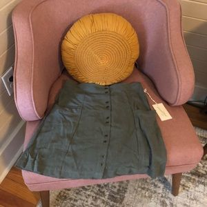 universal thread olive green skirt